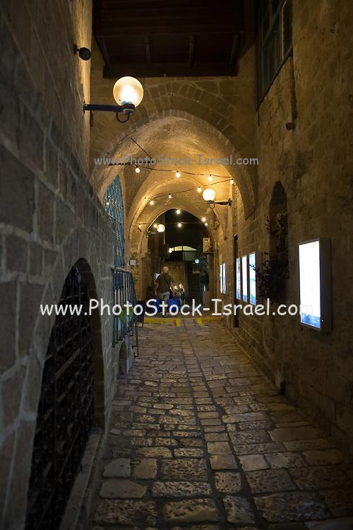 Old Jaffa Alley at night