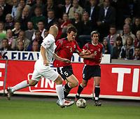 Fotball<br /> VM-kvalifisering<br /> Norge v Hviterussland<br /> Ullevaal stadion<br /> 8. september 2004<br /> Foto: Digitalsport<br /> John Arne Riise, Norge