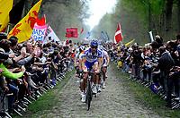 Sykkel<br /> Foto: DPPI/Digitalsport<br /> NORWAY ONLY<br /> <br /> CYCLING - UCI PRO TOUR - PARIS ROUBAIX 2009 - ROUBAIX (FRA)<br /> <br /> TOM BOONEN (BEL) / QUICK STEP / WINNER