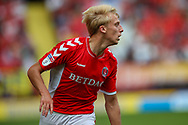 Charlton Athletic midfielder George Lapslie (32) during the EFL Sky Bet League 1 match between Charlton Athletic and Shrewsbury Town at The Valley, London, England on 11 August 2018.