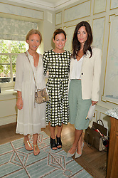 Left to right, MARTHA WARD, SERENA HOOD and HEDVIG OPSHAUG at a breakfast hosted by Halcyon Days at Fortnum & Mason, 181 Piccadilly, London on 8th July 2014.