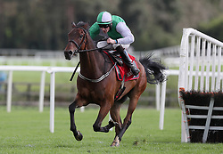 Zero Ten ridden by David Mullins races clear of the last on the way to winning Connolly's RED MILLS Irish EBF Auction Hurdle Series Final during day two of the Punchestown Festival at Punchestown Racecourse, County Kildare, Ireland.