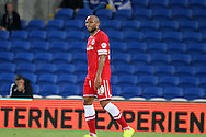 Danny Gabbidon of Cardiff City. Capital One Cup, 3rd round match, Cardiff City v AFC Bournemouth at the Cardiff City stadium in Cardiff, South Wales on Tuesday 23rd Sept 2014<br /> pic by Mark Hawkins, Andrew Orchard sports photography.