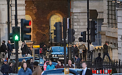 """© Licensed to London News Pictures. 31/05/2015. London, UK. Filming for the new James Bond film """"Spector"""" around Trafalgar Square in Westminster, London . Photo credit: Ben Cawthra/LNP"""
