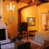 South America, Ecuador, Cotacachi. La Mirage Garden Hotel room