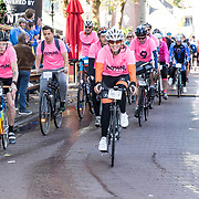 NLD/Amersfoort/20180929 - Bn-er fietsen de Zuiderzee Klassieker 2018, Team 100 % NL met Jordy T, Leontien van Moorsel, Michael Zijlaard,