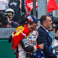 Fernando Alonso,  Sebastien Bueme and Patrick Moriseau, Deputy Race Director, #8, Toyota Gazoo Racing on 17/06/2018 at the 24H of Le Mans, 2018
