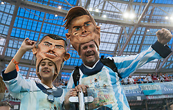 June 21, 2018 - Nizhny Novgorod, Russia - Kibice Argentyny during the 2018 FIFA World Cup Russia group D match between Argentina and Croatia at Nizhny Novgorod Stadium on June 21, 2018 in Nizhny Novgorod, Russia. (Credit Image: © Foto Olimpik/NurPhoto via ZUMA Press)
