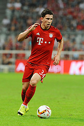 05.08.2015, Allianz Arena, Muenchen, GER, AUDI CUP, FC Bayern Muenchen vs Real Madrid, im Bild Pierre-Emile Hoejbjerg (FC Bayern Muenchen) // during the 2015 Audi Cup Match between FC Bayern Munich and Real Madrid at the Allianz Arena in Muenchen, Germany on 2015/08/05. EXPA Pictures © 2015, PhotoCredit: EXPA/ Eibner-Pressefoto/ Stuetzle<br /> <br /> *****ATTENTION - OUT of GER*****