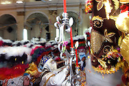 """Bolivia. Tarija. San Roque..In the great joy of the crowd in the evening of the """"Encierro"""" the saint come back in the church to get out of it until the following year."""