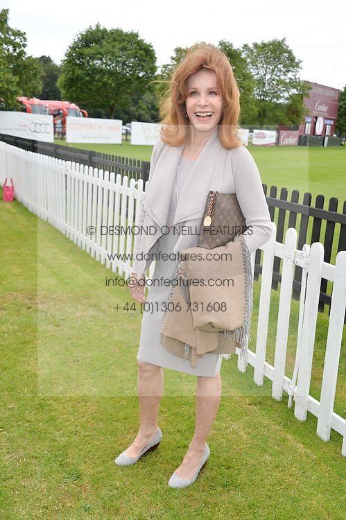 STEFANIE POWERS at the Cartier Queen's Cup Final polo held at Guards Polo Club, Smith's Lawn, Windsor Great Park, Egham, Surrey on 15th June 2014.