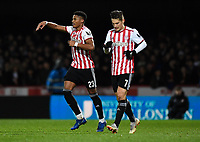 Football - 2018 / 2019 Emirates FA Cup - Fourth Round, Replay: Brentford vs. Barnet<br /> <br /> Brentford's Julian Jeanvier celebrates scoring his side's second goal, at Griffin Park.<br /> <br /> COLORSPORT/ASHLEY WESTERN