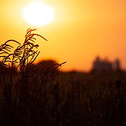 Sunset just outside of Stafford, Kansas. October 2020.