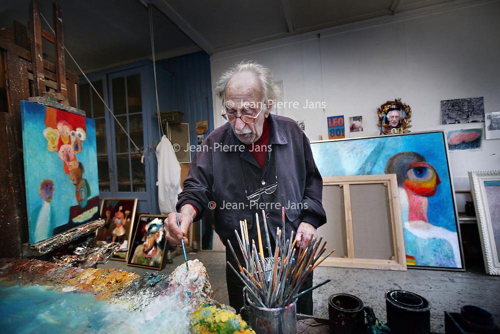 Nederland, Amsterdam , 13 november 2012..Leo Schatz (Amsterdam, 10 maart 1918) is een Nederlands kunstschilder, tekenaar en dichter..Leo Schatz (Amsterdam, 10 March 1918) Dutch artist, painter, designer and poet.