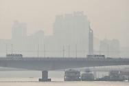 Morning smog in downtown Guangzhou, Guangdong, China