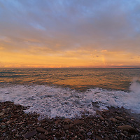 """""""Peaceful Solitude""""<br /> <br /> Gorgeous Lake Superior Sunset in Marquette, Michigan!"""
