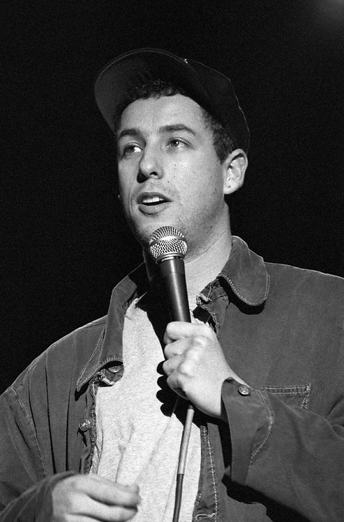 EASTON - OCTOBER 29: Adam Sandler performs at Lafayette College on October 29, 1994, in Easton, Pennsylvania. ©Lisa Lake