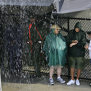 Marshall fans wait in the tunnel prior to an NCAA football game between the Marshall Thundering Herd and the Central Florida Knights at Bright House Networks Stadium on Saturday, October 8, 2011 in Orlando, Florida. Thunderstorms are expected for this evenings game.(Photo/Alex Menendez)