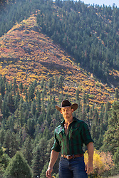 hot cowboy by a mountain in The Fall