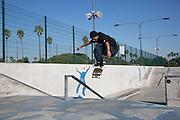 Skaters at Alondra Skatepark in Gardena