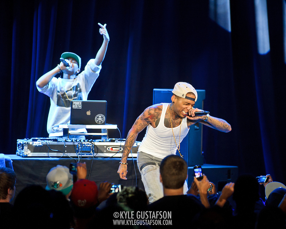 """WASHINGTON, DC -  May 6th, 2012 -  Los Angeles rapper Kid Ink performs at the recently re-opened Howard Theatre in Washington, D.C. Kid Ink was recently featured as one of XXL Magazine's """"Freshmen Class"""" for 2012. (Photo by Kyle Gustafson/For The Washington Post)"""
