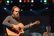 Sam Beam of Iron & Wine live at the Nelsonville Music Festival Friday May 18. 2012 10pm photo by Mara Robinson