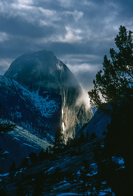 Half Dome, clearing storm, afternoon light, Yosemite Nationasl Park, California, USA