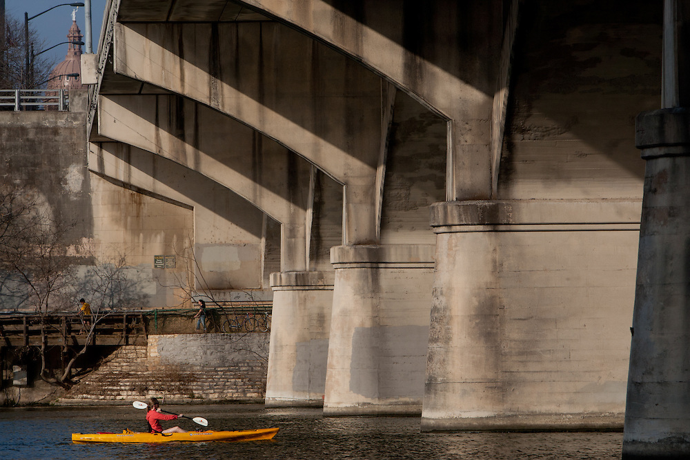 AUSTIN, TX - FEBRUARY 18: Ann Richards Congress Avenue Bridge. Photograph © 2011 Darren Carroll