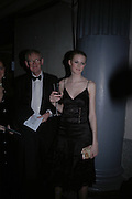 Charlotte Wheeler and her father Stuart Wheeler, The Black and White Winter Ball. Old Billingsgate. London. 8 February 2006. -DO NOT ARCHIVE-© Copyright Photograph by Dafydd Jones 66 Stockwell Park Rd. London SW9 0DA Tel 020 7733 0108 www.dafjones.com