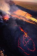 Pu'u  O'o  vent, Kilauea Volcano, Island of Hawaii<br />