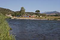 Camping at Arkansas River near Howard, Colorado
