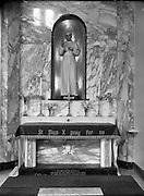 18/04/1956<br /> 04/18/1956<br /> 18 April 1956<br /> <br /> Carmelite Church, Whitefriar St - Shrines to St Valentine and St Pius