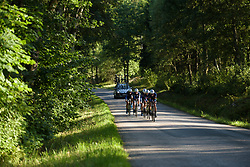 Hitec Products approach at the Crescent Vargarda - a 42.5 km team time trial, starting and finishing in Vargarda on August 11, 2017, in Vastra Gotaland, Sweden. (Photo by Sean Robinson/Velofocus.com)