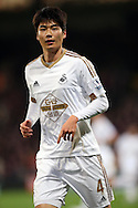 Ki Sung-Yueng of Swansea City looks on. Barclays Premier League match, Crystal Palace v Swansea city at Selhurst Park in London on Monday 28th December 2015.<br /> pic by John Patrick Fletcher, Andrew Orchard sports photography.