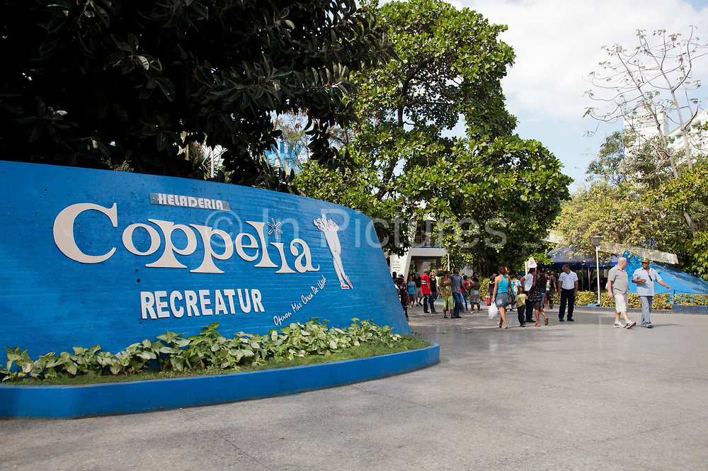 Coppelia ice cream parlour, Vedado, Havana new town, a favourite spot for locals and tourists alike, Coppelia is a Havana institution, taking up a whole park.