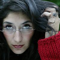 Nederland. Zandvoort. 24 september 2003.<br /> nilgun Yerli, columniste, caberatier.