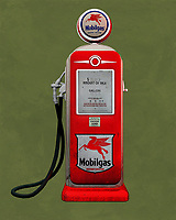 An isolated  Mobile gas station pump. The level of detail in this piece is simply astonishing, particularly in terms of the Shell Gasoline pump.<br /> This is an excellent piece for anyone who appreciates unique pop art. The piece can be installed virtually anywhere you please. <br /> -<br /> BUY THIS PRINT AT<br /> <br /> FINE ART AMERICA<br /> ENGLISH<br /> https://janke.pixels.com/featured/mobile-gas-jan-keteleer.html