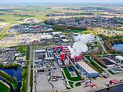 Nederland, Noord-Holland, Alkmaar, 07-05-2021; Industriegebied Boekelermeer. HVC - Afvalenergiecentrale Alkmaar. Huisvuilcentrale, afvalverwerkingsbedrijf.<br /> Industrial area Boekelermeer. HVC - Alkmaar waste-to-energy plant. Garbage plant, waste processing company.<br /> luchtfoto (toeslag op standard tarieven);<br /> aerial photo (additional fee required)<br /> copyright © 2021 foto/photo Siebe Swart