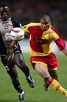 Fotball<br /> Frankrike 2004/05<br /> Lens v Ajaccio<br /> 2. oktober 2004<br /> Foto: Digitalsport<br /> NORWAY ONLY<br /> DANIEL COUSIN (LENS) / MAMADOU SECK (AJA)