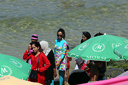 August 5, 2017 - Oran, Algeria - Algerian women wear a ''burkini'' in the sea at the beach of Oran, West of Algiers on 5 August 2017. (Credit Image: © Billal Bensalem/NurPhoto via ZUMA Press)