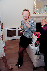 JOSIE GOODBODY at a reception to celebrate the repairs on the Queen Elizabeth Gate in Hyde Park after it's successful repair following damaged sustained in a traffic accident in early 2010.  The party was held at 35 Sloane Gardens, London on 7th June 2010.