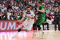 Real Madrid's Jeffery Taylor and Unicaja Malaga's Nemanja Nedovic during semi finals of playoff Liga Endesa match between Real Madrid and Unicaja Malaga at Wizink Center in Madrid, June 02, 2017. Spain.<br /> (ALTERPHOTOS/BorjaB.Hojas)