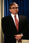WASHINGTON, DC, USA - 1997/03/18: U.S. National Security Advisor Sandy Berger during a briefing on proposed NATO expansion at the White House March 18, 1997 in Washington, DC.     (Photo by Richard Ellis)