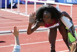 Funmi Jimoh of the USA in the long jump. Folksam Grand Prix Göteborg, Slottskogsvallen, 14. juni 2014.
