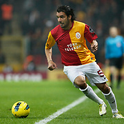Galatasaray's Engin Baytar during their Turkish Super League soccer match Galatasaray between Manisaspor at the TT Arena at Seyrantepe in Istanbul Turkey on Wednesday, 21 December 2011. Photo by TURKPIX