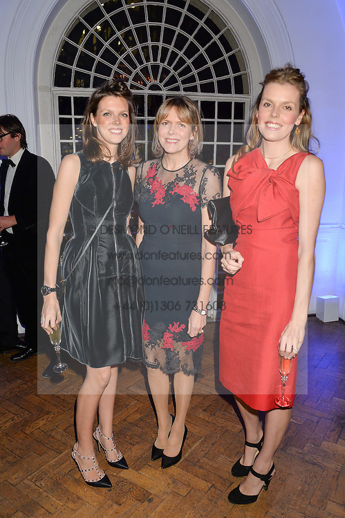 Left to right, GENEVIEVE OSBORNE, her mother the COUNTESS OF WOOTON and ELEANOR OLVER at the Sugarplum Dinner in aid Sugarplum Children a charity supporting children with type 1 diabetes and raising funds for JDRF, the world's leading type 1 diabetes research charity held at One Marylebone, London on 18th November 2015.