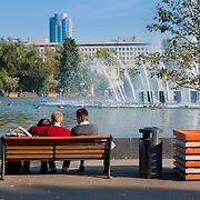 Gorky park fountain, Moscow, Russia