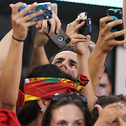 Fans try and photograph Cristiano Ronaldo, Portugal,  during the Portugal V Ireland International Friendly match in preparation for the 2014 FIFA World Cup in Brazil. MetLife Stadium, Rutherford, New Jersey, USA. 10th June 2014. Photo Tim Clayton