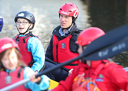 February 27, 2019 - Co Fermanagh, United Kingdom - Image licensed to i-Images Picture Agency. 27/02/2019. Co Fermanagh, Northern Ireland, United Kingdom. The Duke and Duchess of Cambridge at the Roscor Youth Village in Co Fermanagh  on the first day of there  two day trip to Northern Ireland. Run by the charity Extern, Roscor Youth Village is a residential activity centre for children referred to the charity by social workers or the Department of Justice.  The Duke and Duchess talked to the children about their experiences and joined in with some of the activities and experienced the positive benefits of access to the outdoors, nature and sport  (Credit Image: © i-Images via ZUMA Press)