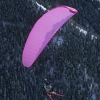 Charles Kirsten flies off Aspen Mountain, Colorado.